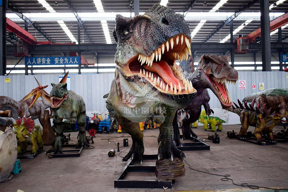度假村机模恐龙制作
