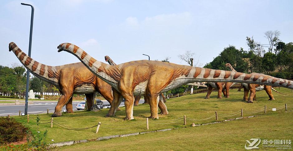 主题公园恐龙景观雕塑模型订购