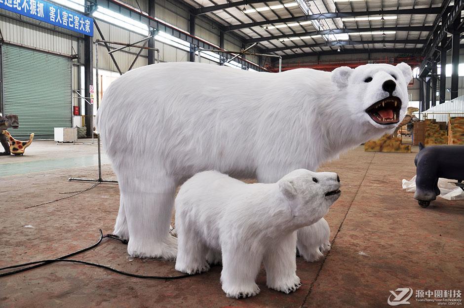 装饰北极熊机模