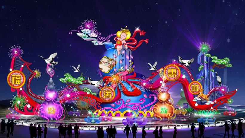 春节花灯设计图库