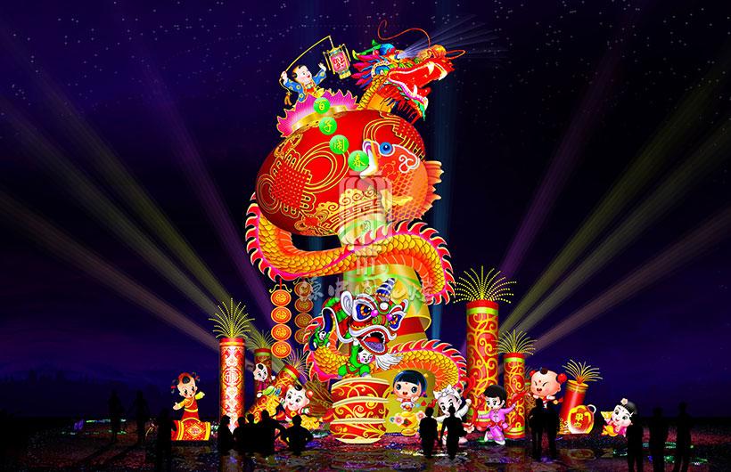 春节灯会设计图库