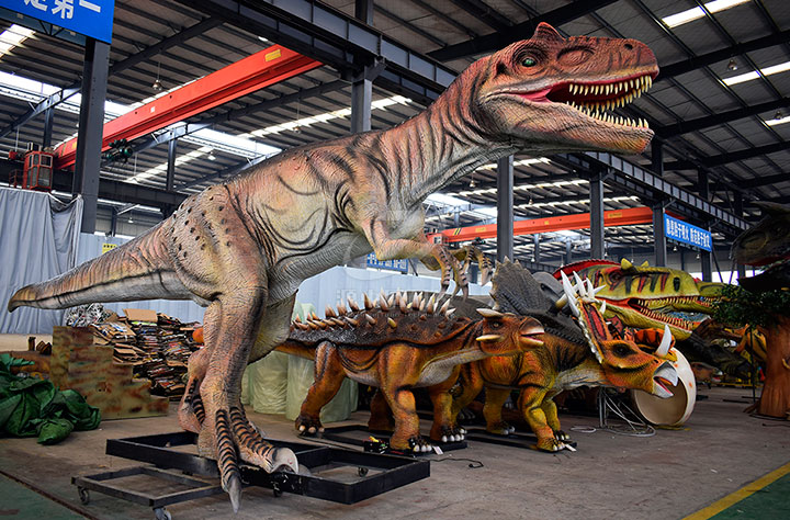 森林公园机模恐龙制作