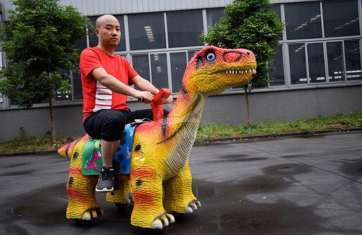 社区动物恐龙车批发销售